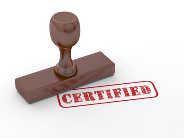 certification, accreditation